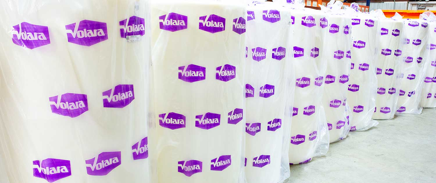 rolls of volara technical foam